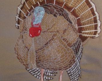 "Embroidered ""Turkey"" Twill Shirt"