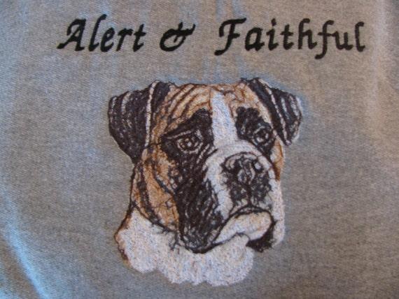 "Embroidered ""Boxer"" Hoodie Sweatshirt"