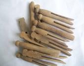 Vintage Clothespins Set of 12