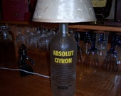 Absolut Citron Lamp: Made from an upcycled Absolut Citron bottle