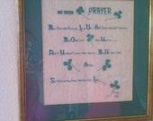 "Irish Prayer Vintage Embroidery Picture Framed ""SALE PRICE"""