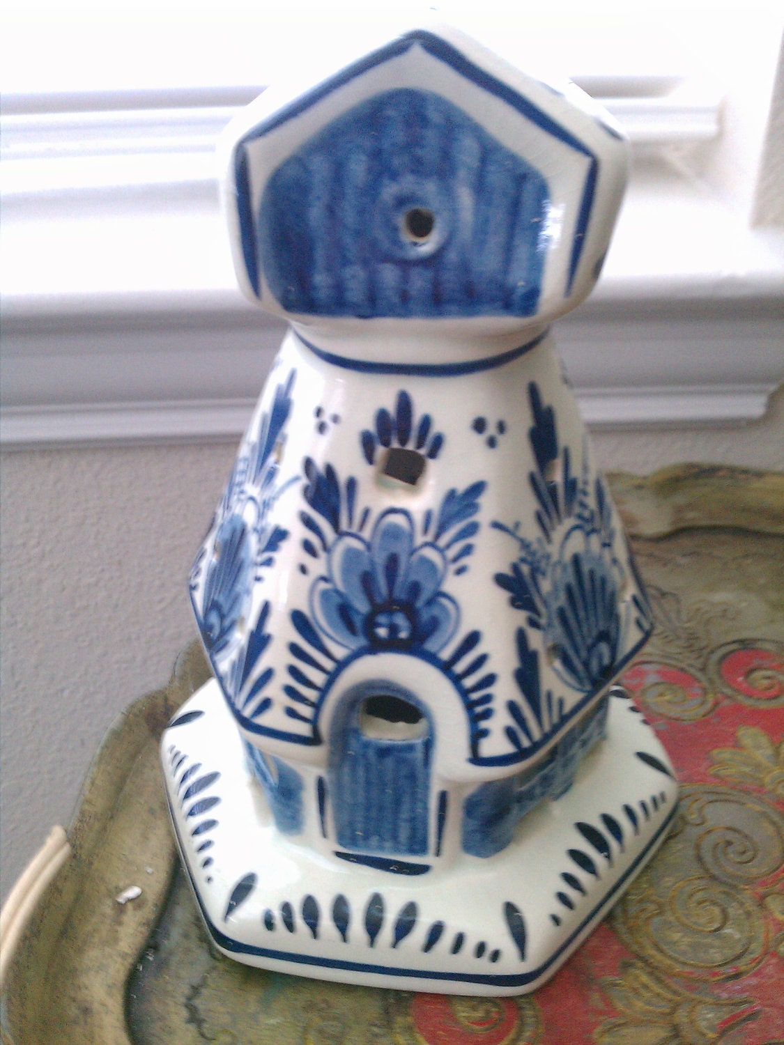 Delft Blue Pottery Holland Night Light Lamp Sale By Vintagegeeks