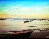 Great Escape - 8x12 Ocean sea nautical photography boats beach print panama tropical photograph landscape wall art blue gold sky home decor