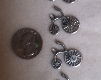 Bicycle Charm, Pewter Bicycle Charm