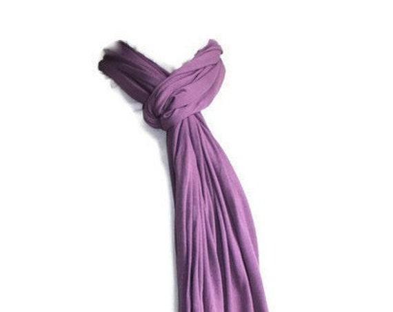 Purple Scarf in Soft Jersey for Women, Girls, Men - Handmade Unisex Scarf