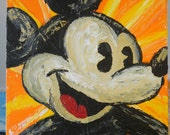 Vintage Mickey Mouse Painting - 11inX14in - This is a painting with Classic Mickey colors from the early years