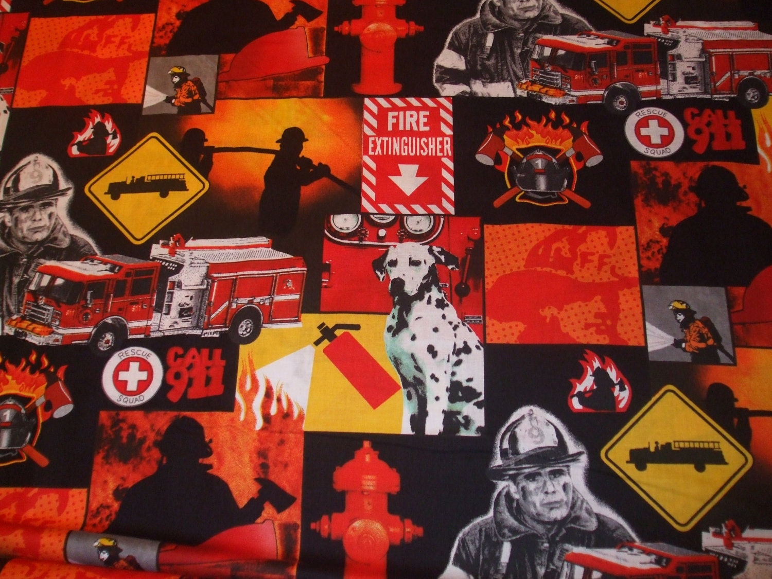 Fireman Rescue Paramedic Emt 100 Cotton Quilting Fabric