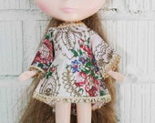vintage dress for blythe, groovy mini dress