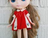 vintage dress for blythe, pennybrite doll dress