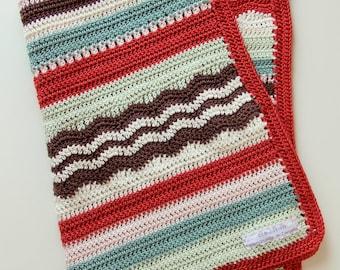 Crochet pattern newborn baby blanket