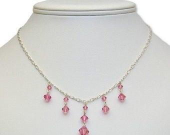 SALE! Delicate Pink Necklace