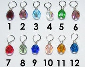 Reserved for Victoria - Set of  Eleven (11) Colored Bead Charms