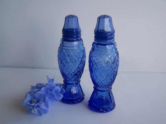 Cobalt Blue Salt & Pepper Shakers