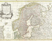 Map Of Norway And Sweden From The 1700s 048 Scandinavia Bergen Oslo Stockholm Sailing Map Cartography Adventure Travel