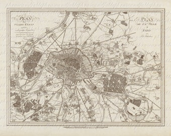Map Of Paris From The 1800s 050 Paris France Geography Map Cartography French Nautical Clip Art Digital Transfer