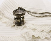 Beautiful pendant carousel. Vintage Style. Sweet gift for her.