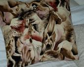 Majestic Horses cushion cover.
