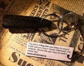 4000 year old Irish Bog Oak key chain by Stickman- Hold a piece of ancient history of Ireland in your hand