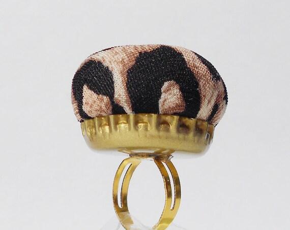 Ring Pincushion Animal Print
