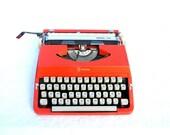 RESERVED FOR KARINA K. Red vintage typewriter Royal Litton 202
