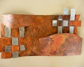 Copper and Found Metal Wall-Mounted or Free-Standing Sculpture