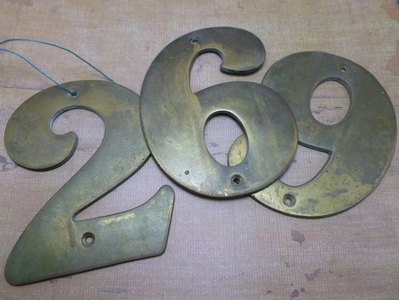 Antique Brass House Numbers Solid Brass House Numbers. Solid Brass House  Numbers. Source Abuse - Antique Brass Door Numbers Antique Furniture