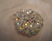 Item is now on Sale.     Vendome Vintage Faceted AB Crystal Dazzle Pin