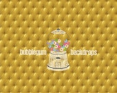 """Gold-Tufted-Cushion- 60""""x60"""" Vinyl Photography Backdrop Prop"""