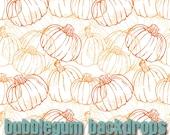 "Pumpkin-Outline 60"" x 60""  - Vinyl Photography Backdrop Photo Prop"