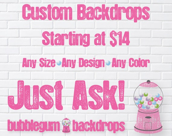 Custom Vinyl Photography Backdrops