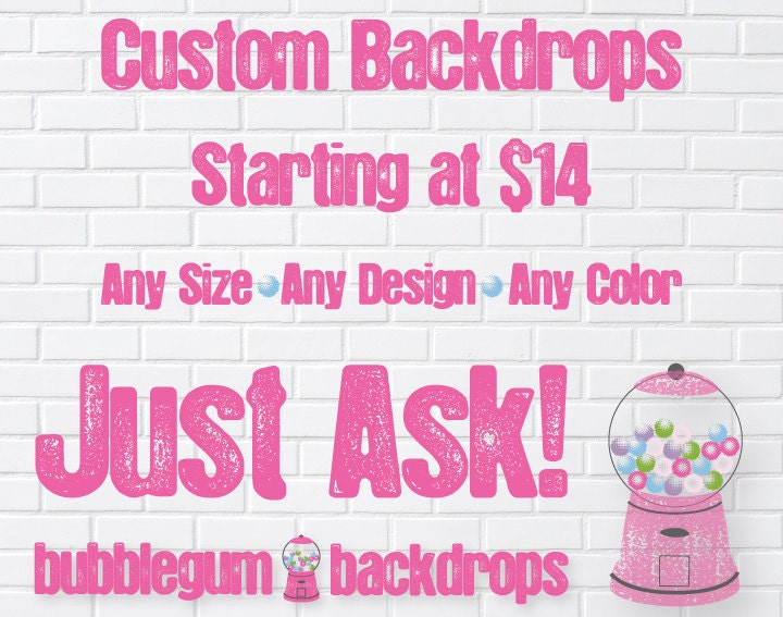 Custom Vinyl Photography Backdrops