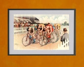 Bicycle Race Scene, 1895 - 8.5x11 Poster Print - also available in 13x19 - see listing details