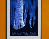 WPA See America Tourism Poster, 1937 - 8.5x11 Poster Print - also available in 13x19 - see listing details