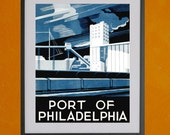 WPA Port of Philadelphia, 1937 - 8.5x11 Poster Print - also available in 13x19 - see listing details