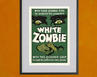 White Zombie - 8.5x11 Poster Print - other sizes available - see listing details