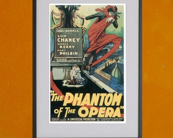 Phantom of the Opera, 1925 Movie Poster - 8.5x11 Poster Print - also available in 13x19 - see listing details