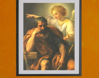 """The Dream of Saint Joseph by Anton Raphael Mengs - 8.5"""" X 11"""" Poster Print - also available in 13x19 - see listing details"""