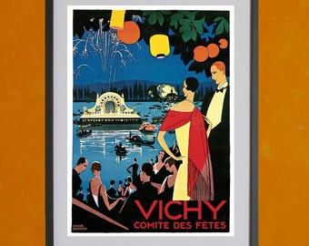 Vichy, Comite Des Fetes, 1926 - 8.5x11 Poster Print - also available in 13x19 - see listing details