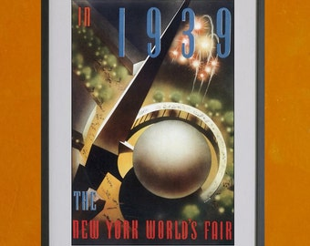 New York World's Fair, 1939 - Print 2- 8.5x11 Poster Print - also available in 13x19 - see listing details