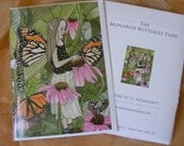 The Monarch Butterfly Fairy - fairy note card 5 x 7 - reproduced from original watercolor fairy painting.