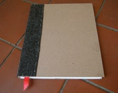 Idea Book: Hand cut, hand bound, blank white pages