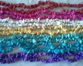 bulk lot-7 full strands, chalk turquoise chips, beads,
