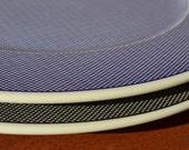 Gingham Stoneware Serving Platters