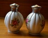 Porcelain Rose Salt & Pepper Shakers