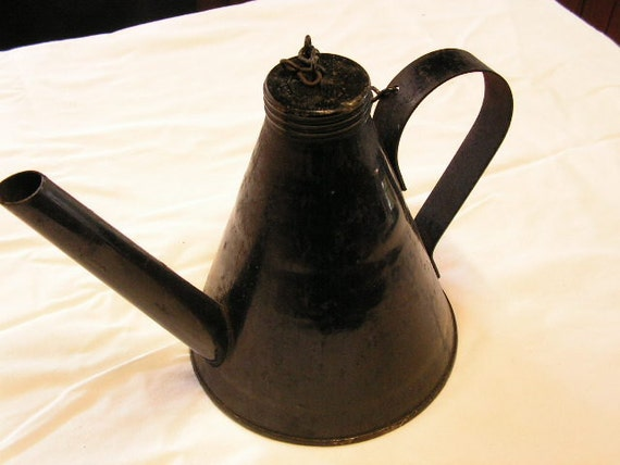 Antique Coal Miner Torch Lamp Oil Wick Rare