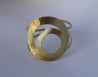 "Bronze Bracelet - Gold plated ""GOLDEN EYE"" By Fysalides"