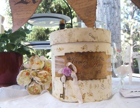 Wedding Card Box, Wedding Card Holder, Shabby Chic Style wedding post box