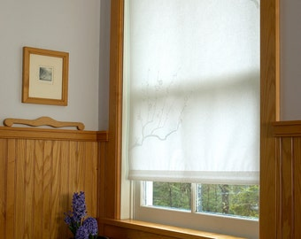 Roller Blind made with Japanese Shoji paper with Plum Blossom imprint, 6 patterns available