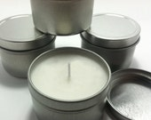 Scented Soy Candles 4 oz Silver Tin Custom Wedding Favors Set of 100
