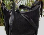 COACH Rare Vintage Berkeley Black Leather Suede Legacy Bag Cross Body 9011